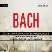 Album artwork for Bach: Brandenburg Concerti 1-6 / Maute