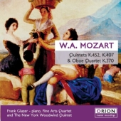 Album artwork for QUINTETS K.452, K.407 AND OBOE QUARTET K.370