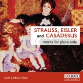Album artwork for STRAUSS, EISLER AND CASADESUS: WORKS FOR PIANO SOL