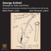 Album artwork for ANTHEIL: SONATAS FOR VIOLIN AND PIANO