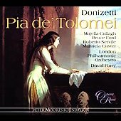 Album artwork for DONIZETTI: PIA DE' TOLOMEI