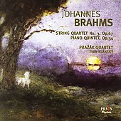 Album artwork for BRAHMS: STRING QUARTET NO.3; PIANO QUINTET, OP.34