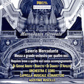 Album artwork for Mercadante: Mass for Orchestra & 4 Voices