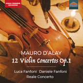 Album artwork for Mauro D'Alay, 12 Violin Concertos, Op. 1