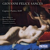 Album artwork for Sances: Capricci Poetici, Vol. 1