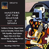 Album artwork for Masters of the Guitar, Vol. 2: Spain