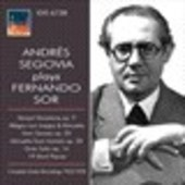 Album artwork for Andrés Segovia plays Fernando Sor