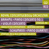 Album artwork for Brahms: Piano Concerto No. 1 & Violin Concerto - S