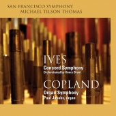 Album artwork for Ives & Copland: Symphonies / Tilson Thomas