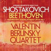 Album artwork for Shostakovich & Beethoven: String Quartets