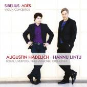 Album artwork for Violin Concertos by Ades & Sibelius / Hadelich, Li