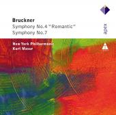 Album artwork for Bruckner: Symphonies 4 & 7 / Masur