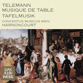 Album artwork for Telemann: Tafelmusik / Harnoncourt