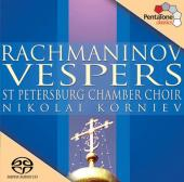 Album artwork for Rachmaninov: Vespers / Korniev, St. Petersburg Cha