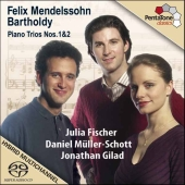 Album artwork for Mendelssohn: Piano Trios Nos. 1 & 2 / Fischer