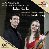 Album artwork for Mozart: Violin Concertos Nos. 1, 2 & 5 / Fischer
