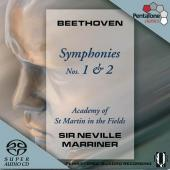 Album artwork for Beethoven: SYMPHONIES 1 & 2 / Marriner
