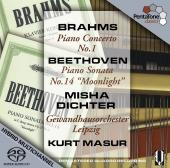 Album artwork for Brahms: Piano concerto No. 1 (Dichter)