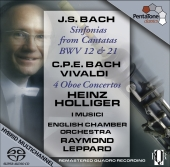 Album artwork for CPE Bach & Vivaldi: 4 Oboe Concertos (Holliger)
