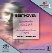 Album artwork for Beethoven: SYMPHONIES 2 & 5 / Masur