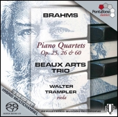 Album artwork for BRAHMS - PIANO QUARTETS 1 - 3