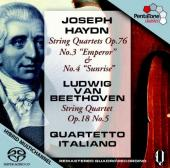 Album artwork for Haydn / Beethoven: String Quartets (Quartetto Ita