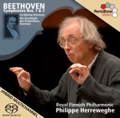 Album artwork for Beethoven: Symphonies No 1 & 3, Herreweghe