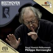 Album artwork for Beethoven: Symphonies nos. 2 & 6 / Herreweghe
