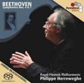 Album artwork for Beethoven: Symphonies Nos. 4 & 7 / Herreweghe