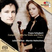 Album artwork for Schubert: Works for Violin & Piano Vol.1 (Fischer)