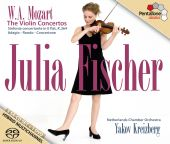 Album artwork for Mozart: The Violin Concertos / Julia Fischer