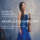 Album artwork for Britten & Hindemith: Violin Concertos / Steinbache