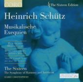 Album artwork for Schutz: Musikalische Exequien / The Sixteen