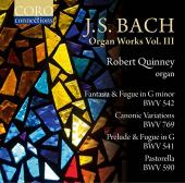 Album artwork for Bach: Organ Works vol.3 / Quinney