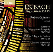 Album artwork for Bach: Organ Works, Vol. 4  /Quinney