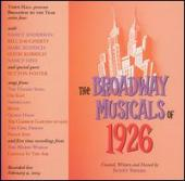 Album artwork for The Broadway Musicals of 1926
