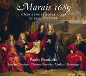Album artwork for Marais 1689 / Paolo Pandolfo