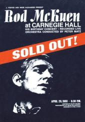 Album artwork for Rod McKuen: At Carnegie Hall Sold Out!