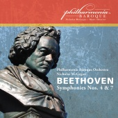 Album artwork for Beethoven: Symphonies Nos.4 & 7. PBO, McGegan