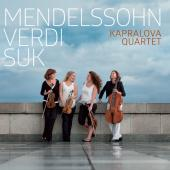 Album artwork for Mendelssohn, Verdi & Suk: Works for String Quartet