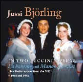 Album artwork for BJORLING IN TWO PUCCINI OPERAS