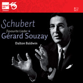 Album artwork for Gerard Souzay: Favourite Schubert Lieder