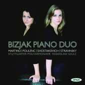 Album artwork for Martinu: Concerto for Two Pianos. Bizjak Piano Duo