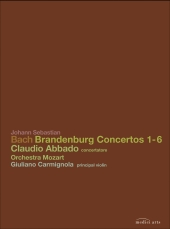 Album artwork for Bach: Brandenburg Concertos 1-6 (Abbado)