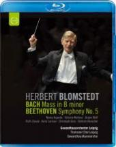 Album artwork for Herbert Blomstedt conducts Bach & Beethoven