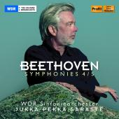 Album artwork for Beethoven: Symphonies Nos. 4 & 5 / Saraste