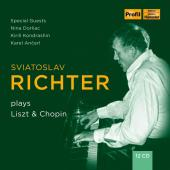 Album artwork for Sviatoslav Richter plays Liszt & Chopin