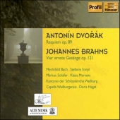 Album artwork for DVORAK: REQUIEM / BRAHMS: FOUR SERIOUS SONGS
