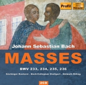 Album artwork for Bach: Lutheran Masses BWV 233, 234, 235, 236 (Rill