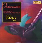 Album artwork for Padereswki: Sonatas, Variations / Antonin Kubalek